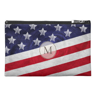 Monogrammed stylized USA flag Travel Accessory Bag