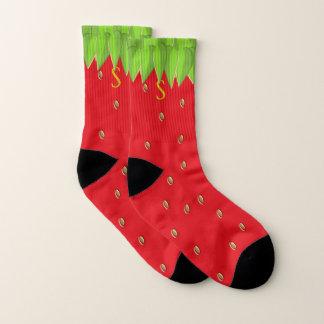 Monogrammed Summer Strawberry Socks