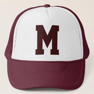 Monogrammed Superstar Maroon Trucker Hat