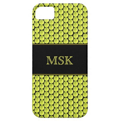 Monogrammed Tennis Ball Pattern iPhone 5 Cover