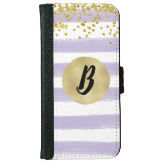 Monogrammed Trendy Gold Confetti Wallet Case