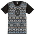 Monogrammed Tribal Pattern Drk All-Over-Print T-Shirt