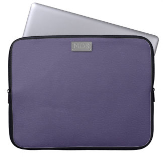 Monogrammed Ultra Violet Laptop Sleeve