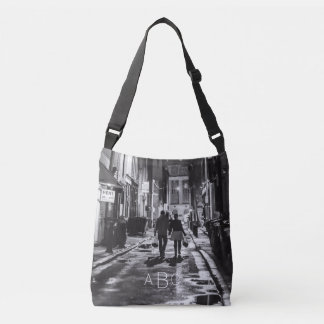 Monogrammed Urban Cityscape Crossover Bag