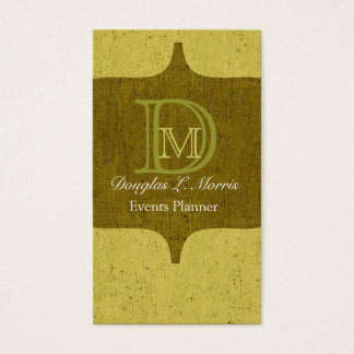 Monogrammed Urban Rusted Business Card