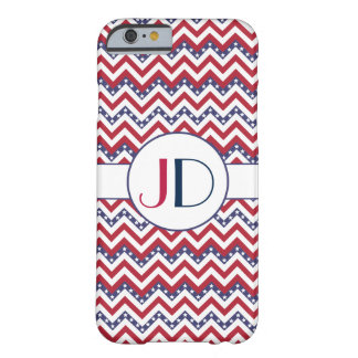 monogrammed USA chevron zigzag Barely There iPhone 6 Case