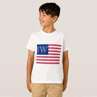 Monogrammed USA Flag T-Shirt