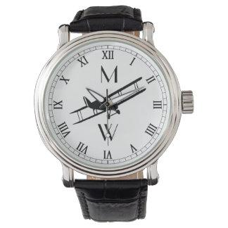 Monogrammed Vintage Aeroplane Wrist Watches