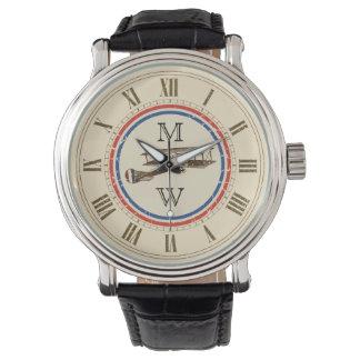 Monogrammed Vintage Airplane Watch