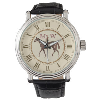 Monogrammed Vintage Equestrian Watch