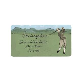 Monogrammed Vintage Style golf art