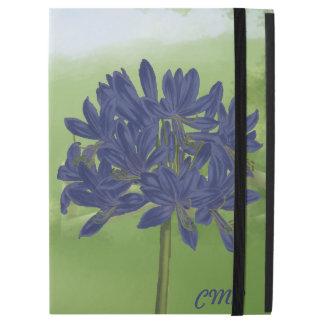 "Monogrammed Violet Blue Agapanthus iPad Pro 12.9"" Case"