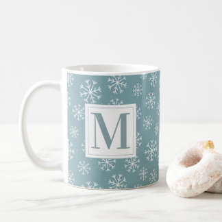 Monogrammed Winter Snowflakes Coffee Mug