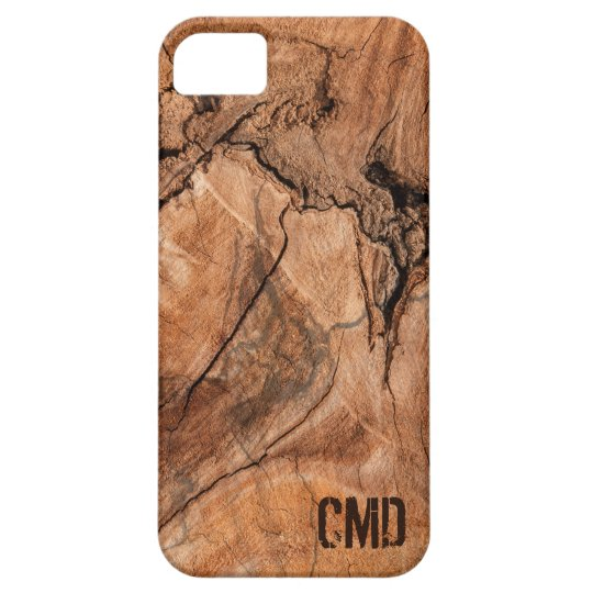 Monogrammed Wood Knots iPhone 5 Case