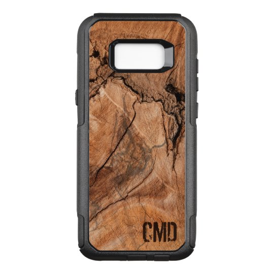 Monogrammed Wood Knots Texture OtterBox Commuter Samsung Galaxy S8+ Case