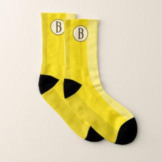 Monogrammed Yellow Banana Socks