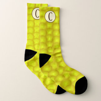 Monogrammed Yellow Corn on the Cob Corny Socks 1