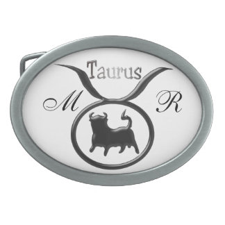 Monogrammed Zodiac Star Sign Taurus Belt Buckle