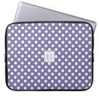 MonogramPurple With White Polka-Dots Laptop Sleeve