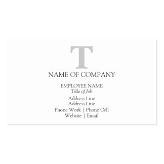 Monograms For Business Cards Profile Cards