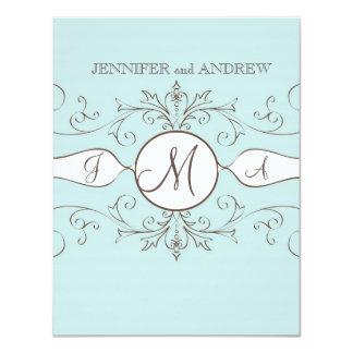 "Monograms Names Wedding RSVP Cards 4.25"" X 5.5"" Invitation Card"
