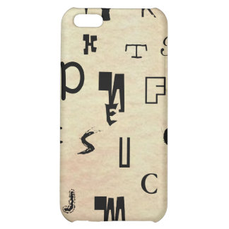 Monograms Symbols The World With Only Words iPhone 5C Cover