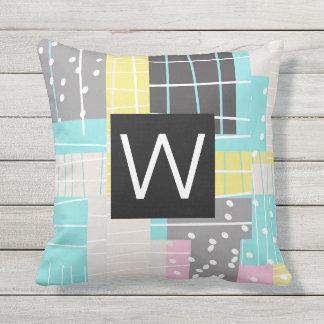 monogrom pillow abstract modern original design