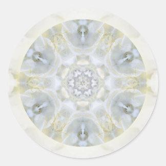 Monoi Gardenia Angels Round Sticker