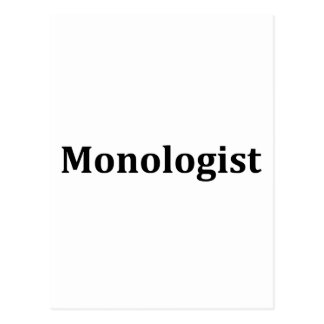 monologist postcard