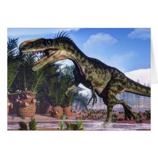 Monolophosaurus dinosaur - 3D render Card