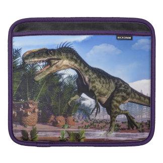 Monolophosaurus dinosaur - 3D render iPad Sleeve