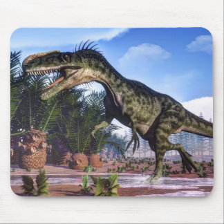 Monolophosaurus dinosaur - 3D render Mouse Pad