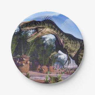 Monolophosaurus dinosaur - 3D render Paper Plate