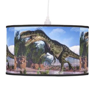 Monolophosaurus dinosaur - 3D render Pendant Lamp