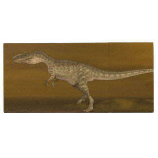 Monolophosaurus dinosaur - 3D render Wood USB Flash Drive