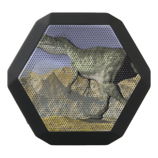 Monolophosaurus dinosaur in the desert - 3D render Black Bluetooth Speaker