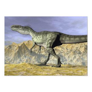 Monolophosaurus dinosaur in the desert - 3D render Card