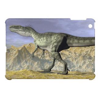 Monolophosaurus dinosaur in the desert - 3D render Cover For The iPad Mini