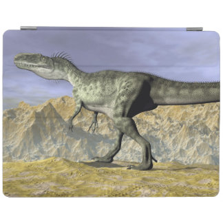 Monolophosaurus dinosaur in the desert - 3D render iPad Cover