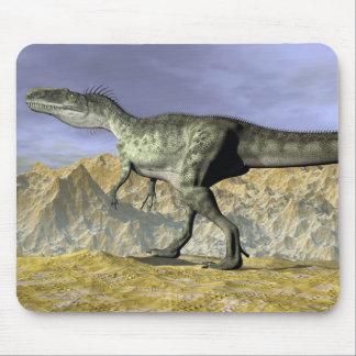 Monolophosaurus dinosaur in the desert - 3D render Mouse Pad