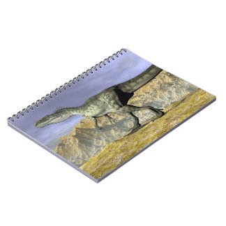 Monolophosaurus dinosaur in the desert - 3D render Notebook