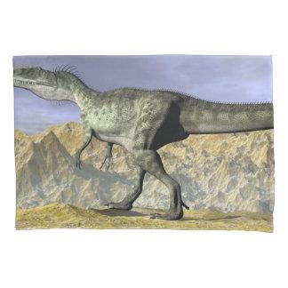 Monolophosaurus dinosaur in the desert - 3D render Pillowcase