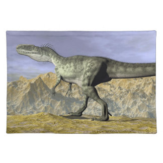 Monolophosaurus dinosaur in the desert - 3D render Placemat