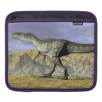 Monolophosaurus dinosaur in the desert - 3D render Sleeve For iPads