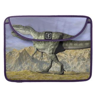 Monolophosaurus dinosaur in the desert - 3D render Sleeve For MacBooks