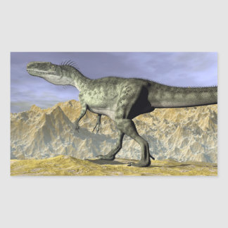 Monolophosaurus dinosaur in the desert - 3D render Sticker