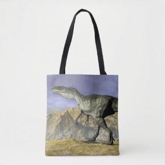 Monolophosaurus dinosaur in the desert - 3D render Tote Bag