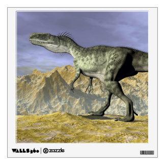 Monolophosaurus dinosaur in the desert - 3D render Wall Sticker