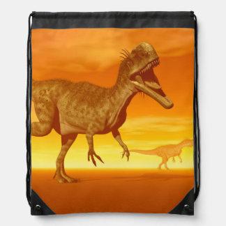 Monolophosaurus dinosaurs- 3D render Drawstring Bag