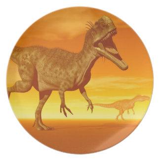 Monolophosaurus dinosaurs- 3D render Plate